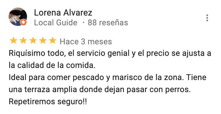 comentarios del restaurante